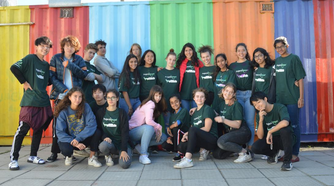 High School Special volunteers take group photo at their Childcare placement in South Africa.